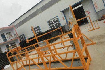 可靠的zlp630塗漆鋼懸浮工作平台,用於建築施工